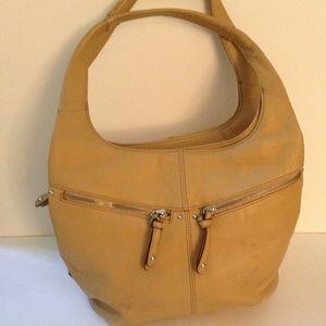 Tignanello Beige Leather Bag